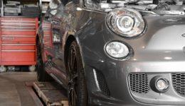 今週2台目のアバルトの足回りは加工が大変でした<br>SessAオリジナルサスペンション
