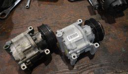 アバルト595はエアコンの修理<br>クーラーコンプレッサの交換