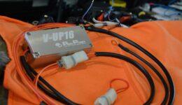 V-UP16をアバルトに取付