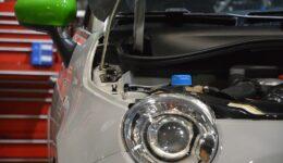 アバルト595 チェックランプの点灯<br>原因は意外なところに!