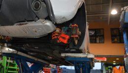リヤブレーキキャリパの作動不良の原因は?<br>アバルト500 ブレーキトラブル