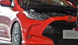 異国車にMSAの取付<br>TOYOTA MXPA10 軽快感を堪能出来る良い車です